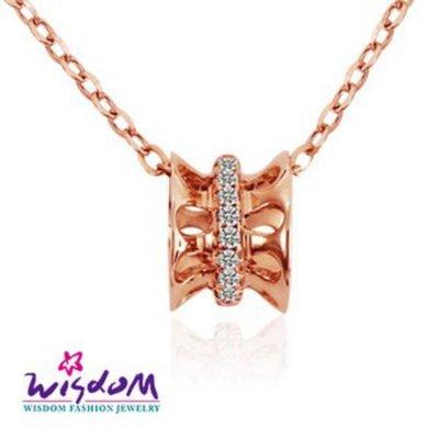 威世登 天然鑽石《心動系列》愛的進行式 K金小套鍊 足成色14K玫瑰金鑲製-韓風設計-DB01802-5-BCCXX