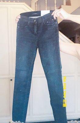 全新,韓國正品現貨,How Luk No.3100 深藍色貼腿顯瘦牛仔褲 - S號