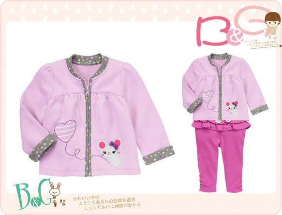 【B& G童裝】正品美國進口GYMBOREE 小老鼠圖樣內軟刷毛長袖外套2-3yrs
