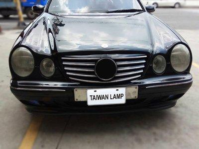 《※台灣之光※》全新BENZ賓士 W210 00 01 02年外銷高級品無框跑車式五線大星黑水箱罩
