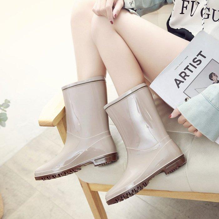 999時尚雨鞋女中筒雨靴成人女裝防滑水鞋韓版膠鞋水靴膠靴防水套鞋YC0310