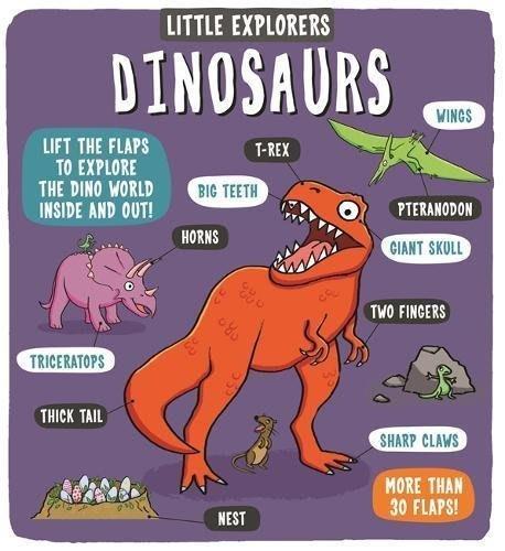 *小貝比的家*LITTLE EXPLORERS DINOSAURS /精裝/3~6歲/恐龍