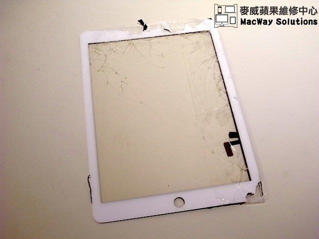 [台中 麥威蘋果] iPad Air維修中心 觸控螢幕破裂 液晶顯示故障 外殼變形 畫面無法轉向