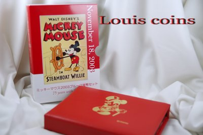 【Louis Coins】F058‧Japan‧2003日本 Mickey Mouse75周年紀念Proof套幣