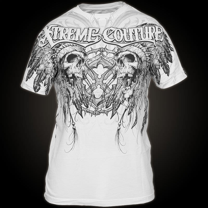 @50%OFF@ Xtreme Couture AFFLICTION T-SHIRT 破壞仿舊短T (( 含運 ))