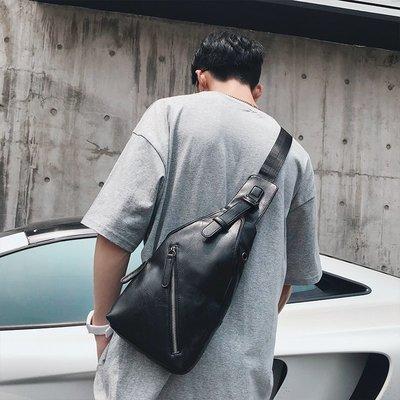 【BDCT 男裝服飾海外代購店】2018新款正韓男包 潮流時尚小胸包 單肩斜跨小背包騎行后背包潮包