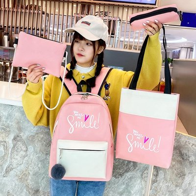 【berry_lin107營業中】2019新款韓版初中生 書包女 小學生3-6年級輕便孩兒童背包時尚潮