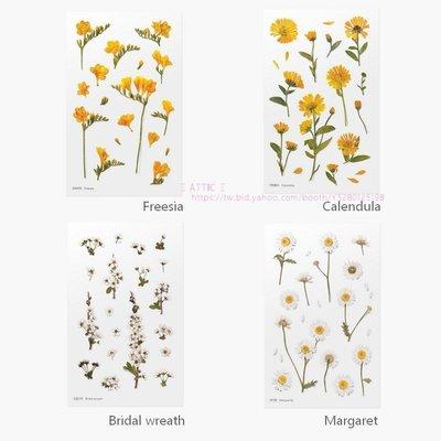 ❅PAVEE❅ 韓國appree~ Press Flower Sticker 壓花造型裝飾貼紙/日誌貼紙~小花系列