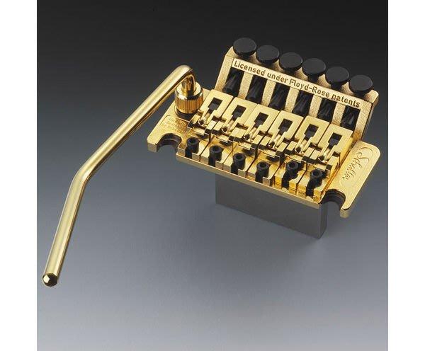 ☆ 唐尼樂器︵☆吉他零件系列- Schaller Floyd Rose 電吉他鍍金色大搖座整組(大搖桿系統)