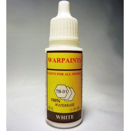 TB 水漆 (高效能模型漆) 噴槍 筆塗皆適合 無臭 安全 不需溶劑 乾後防水 雪地白 (TB-01)