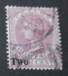 1888年英屬錫蘭Queen Victoria郵票2cents(第3枚)