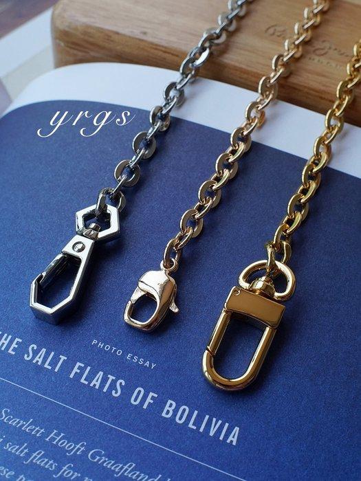 淘淘樂-一人故事 輕奢包包鏈條配件金屬銅鏈子三合一原版斜挎替換細肩帶