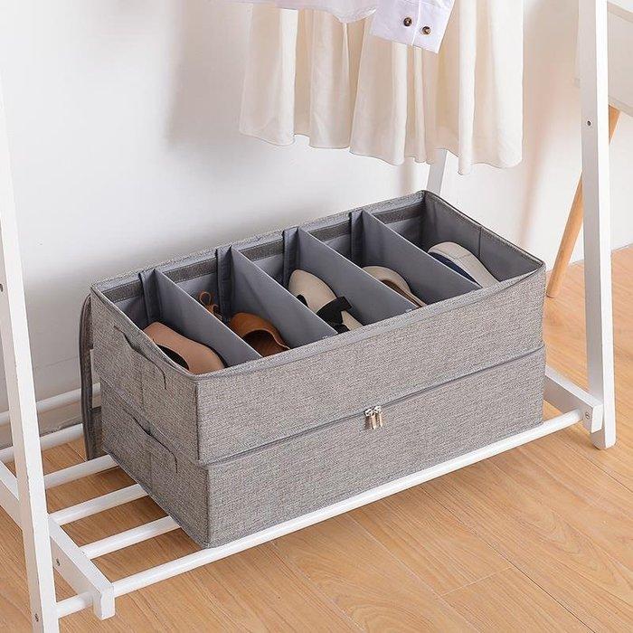 鞋子收納盒女整理箱折疊式20布藝鞋柜鞋盒收納宿舍神器透明單個裝