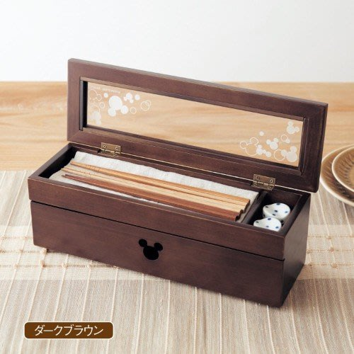 迪士尼Disney《預購》米奇 天然松木 雙層餐具收納盒~日本正品~共2色~心心小舖