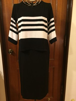 MAX MARA  - 低調奢華羊毛黑色及膝裙 - 孫芸芸御用品牌