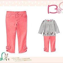 【B& G童裝】正品美國進口GYMBOREE Bow Jeggings粉紅色彈性長褲2,3yrs