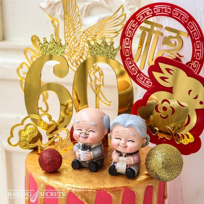 Amy烘焙網:3款壓克力雙層生日蛋糕裝飾插卡/蛋糕裝飾雙層插牌/慶生蛋糕