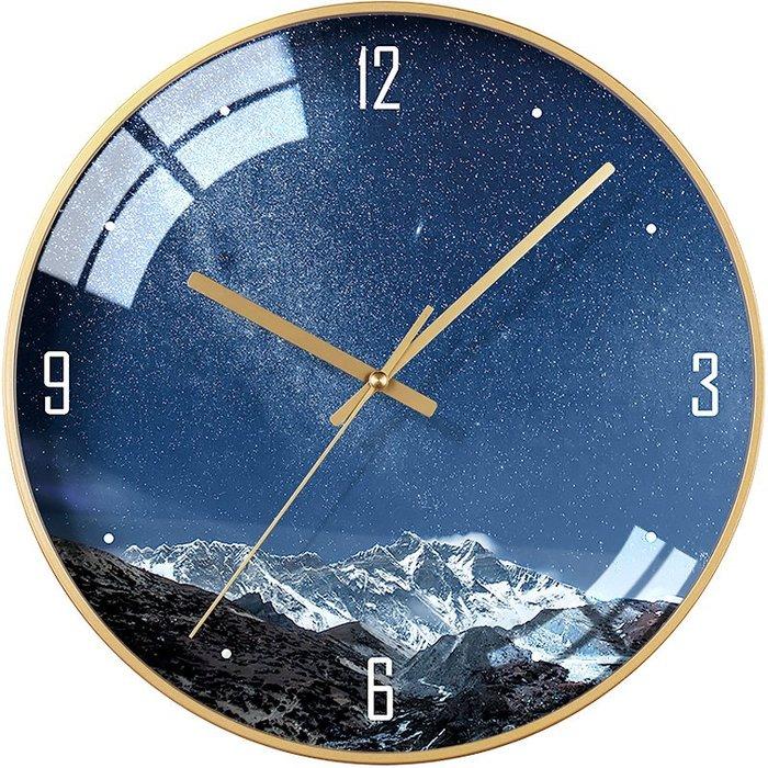 時鐘 掛鐘 網紅掛鐘時尚個性星空鐘表日式簡約墻面裝飾掛表北歐石英鐘