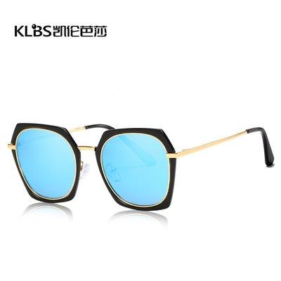 [凱倫芭莎]2003眼鏡鏡框墨鏡太陽眼鏡鏡片新款時尚TAC偏光太陽鏡歐式金屬鏡框遮陽駕駛女士彩膜墨鏡192778