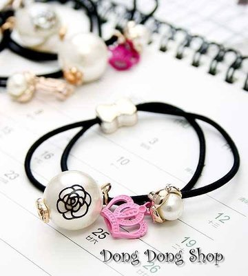 [[Dong Dong Shop]]${D1-3-SEP014}♥玫瑰+王國♥雙用*手環/髮束