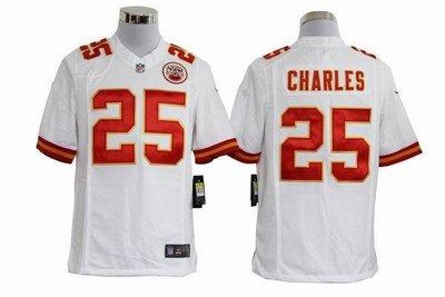 NFL橄欖球球衣 Kansas City Chiefs 堪薩斯酋長 25# CHARLES 球迷 ycwk608