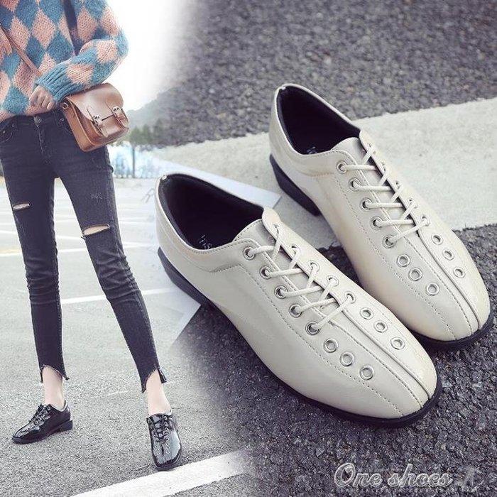 皮鞋早圓頭低跟英倫學院風細帶方根外穿舒適小皮鞋單鞋女