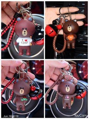 (現貨-限時下殺) LINE 娃娃 熊大Brown公仔鑰匙圈 可愛公仔掛件 包包吸睛配飾 小禮物 A218