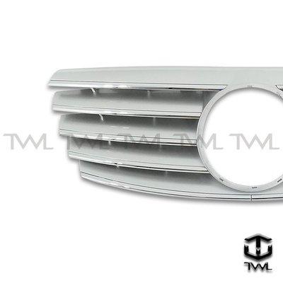 《※台灣之光※》全新BENZ賓士 W210 99 00 01 02年小改款外銷高級品無框跑車式5線五線大星銀水箱罩台灣製