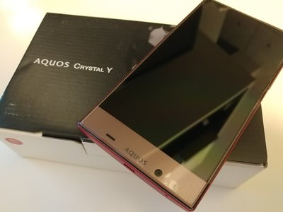 Y!mobile Sharp Aquos Crystal Y (黑色或红色 black or red color)
