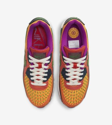 """Tu.DOS NIKE AIR MAX 90 """"DAY OF THE DEAD"""" DC5154-458 男鞋"""