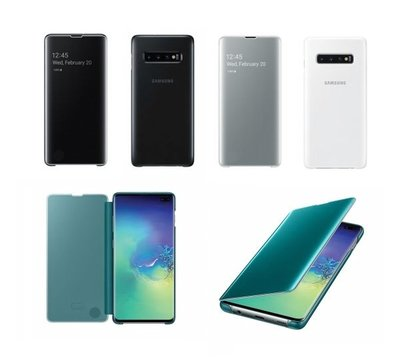 Samsung Galaxy S10+ Clear View Flip Cover Case 全透視感應皮套EF-ZG975,纖巧堅固防震,全新原廠正貨