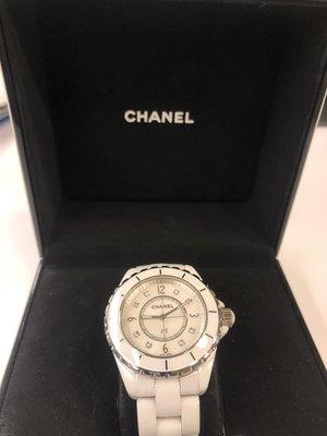 【RECOVER名品二手】CHANEL J12 香奈兒 石英機蕊 白色陶瓷 整點帶鑽 100%真品