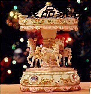 【優上精品】巧匠屋旋轉木馬音樂盒最佳送女朋友老婆情人節生日禮物品 精緻禮品(Z-P3267)