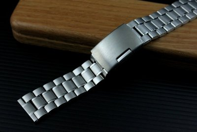 168錶帶配件/22mm平頭實心不鏽鋼製錶帶超值亞米家sea master海馬風格speed master,可替代