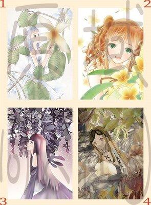 【原創雙面明信片(小卡)】植物&少女(套組)