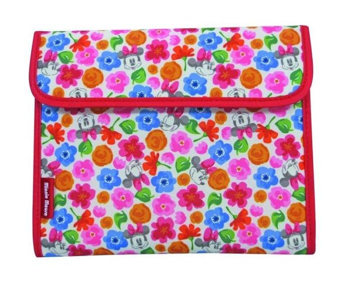 【小糖雜貨舖】日本 母子手帳冊 收納健保卡 信用卡 寶寶寫真卡 存摺 硬幣 照片 - Minnie 繽紛花園米妮 花柄