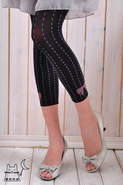 【拓拔月坊】日本製 MORE 俏皮款 蝴蝶結縫紋 八分內搭褲 春夏款~現貨!