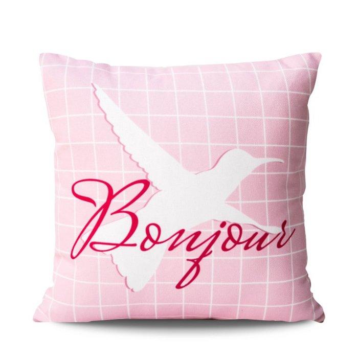 北歐簡約抱枕粉色沙發麋鹿靠枕臥室汽車床頭靠墊辦公室抱枕套抱枕 沙發靠枕 公室靠枕 床頭靠