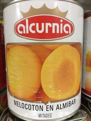 西班牙進口~【Alcurnia】易開罐水蜜桃850g/罐$90,一箱=12罐享免運歡迎洽詢喔~