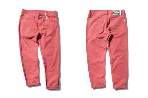 { POISON } DeMarcoLab DMC5 XX4 WASHED TROUSER 微刷毛純棉 鮭魚紅錐形牛仔褲