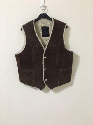 古著 Vintage 70's Steer Brand Leather 珍珠刷毛 麂皮背心 鋪棉背心 墨西哥製
