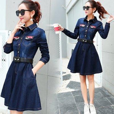 牛仔洋裝 - 顯瘦大裙擺款  #ZG0113063