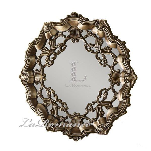 【芮洛蔓 La Romance】Mindy Brownes - 古典圖騰貼箔裝飾鏡