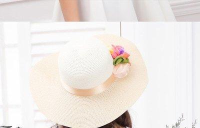帽女夏天大檐沙灘帽大沿帽