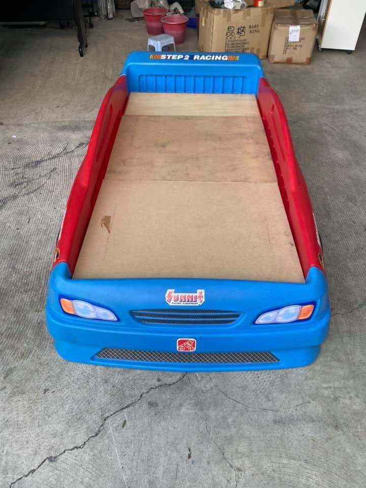 [年強二手傢俱] 兒童跑車床 三尺兒童床架 單人組合床 汽車造型床組 床頭 床箱 床底 床片 20826180