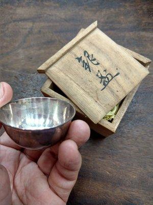 大草原典藏,日本百年純銀杯,特價一天