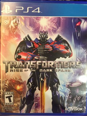 PS4 Transformers: Rise of the Dark Spark 英文版 二手 九成新 新北市