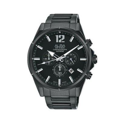 可議價「1958鐘錶城」ALBA雅柏 ACTIVE 男 三眼計時 石英腕錶(AT3D29X1) 43mm