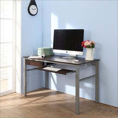 辦公室/電腦室【居家大師】低甲醛防潑水120公分附抽屜鍵盤穩重型工作桌/電腦桌書桌 I-B-DE050WA-DR-K