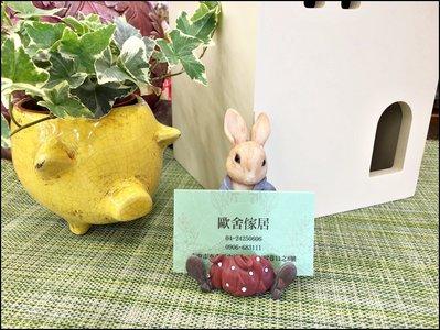 彼得兔系列 波麗製草莓兔子福袋名片座 比得兔 正版授權立體兔子公仔便條紙架桌上名片收納架收藏擺飾品【歐舍傢居】